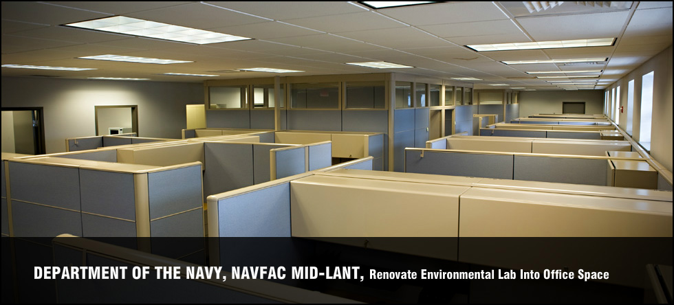 Department of the Navy, NAVFAC MID-LANT, Renovate Environmental Lab Into Office Space